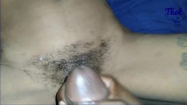 elle prend mon sperme sur son vagin